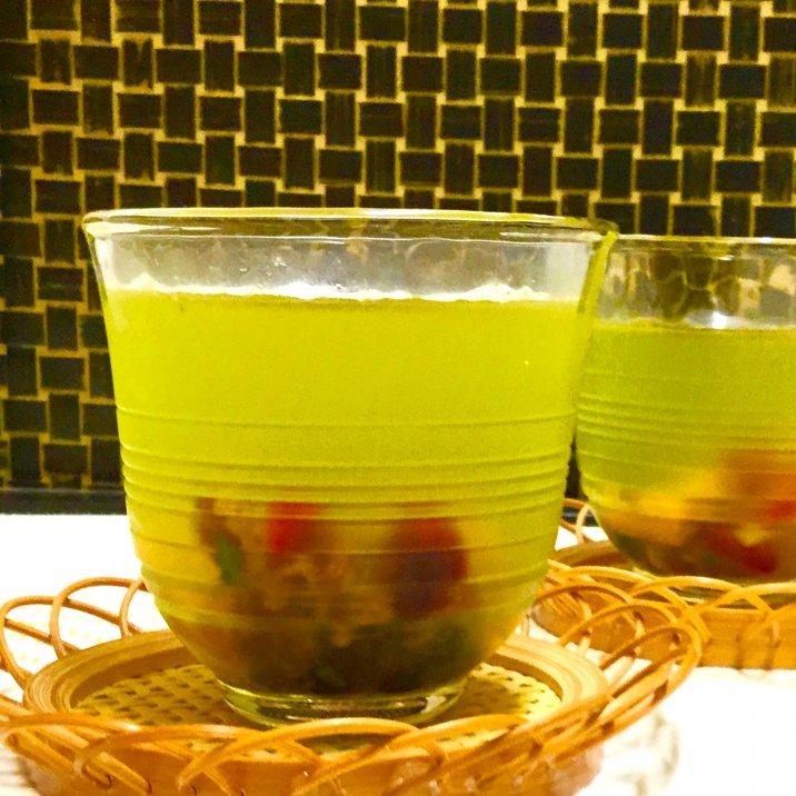 ドライフルーツ緑茶